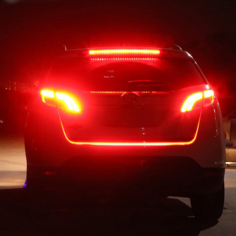 Flow led strip trunk light make your car look more cool you can try this modified lamp using flow led strip trunk light that is easy to install equipped with lighter it will make your car look more cool and mozeypictures Image collections