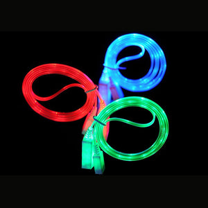 LED USB Cable - LED Flowing Visible Light Up Luminescent Smart Charge