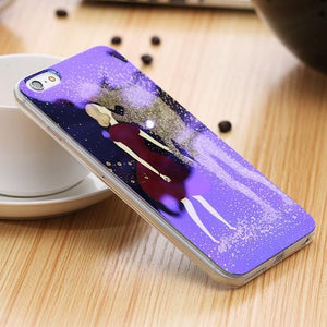 Phone Bags & Cases - Case Soft Silicone Blue Ray Light Clear Glitter Powder For IPhone 7 | 7 Plus