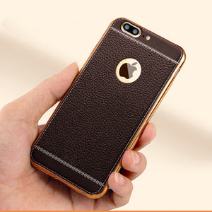 Luxury Plating TPU Leather Case - Protects Against Fingerprints and Scratches