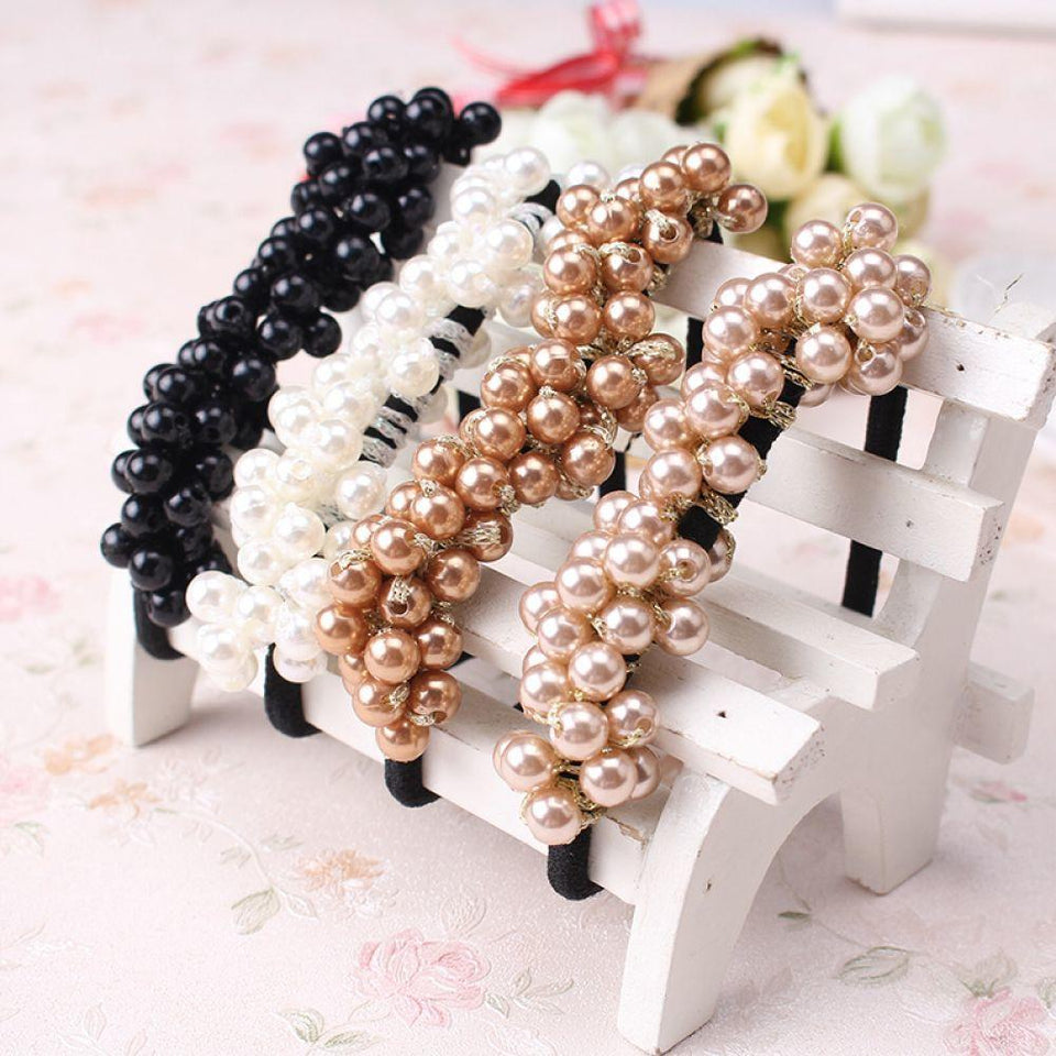 Women Accessories - Headbands Ponytail Holder Girls Scrunchies Vintage Elastic Hair Bands Rubber Rope Headdress