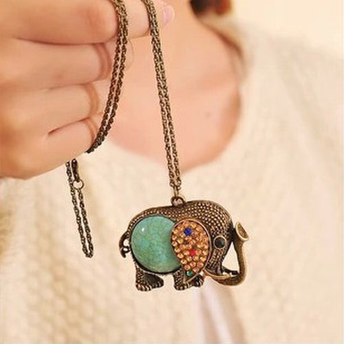 Elephant Necklace - Wear Your Necklace And Get Lucky All Every Time!