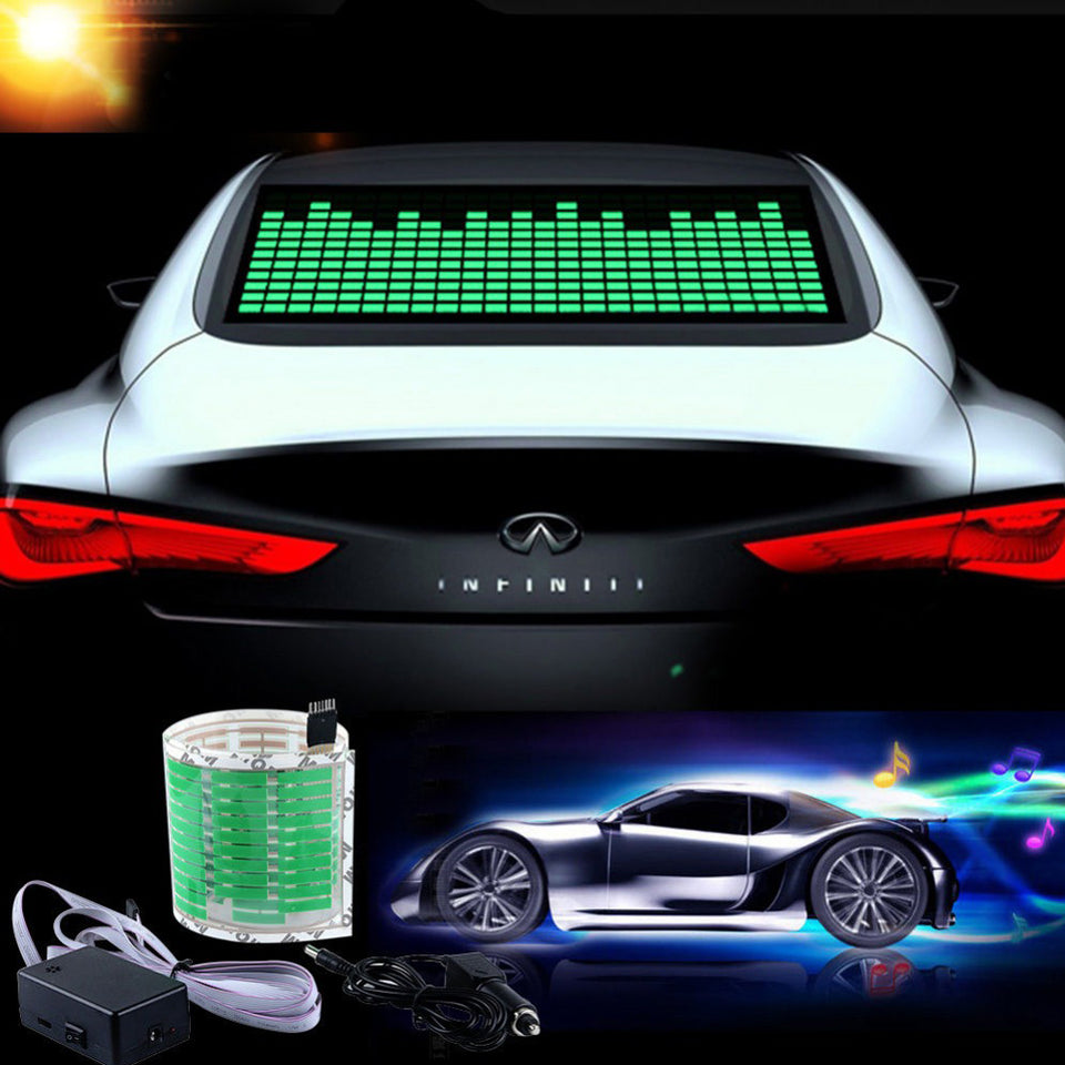 LED Car Equalizer - Make Your Party On Your Ride!