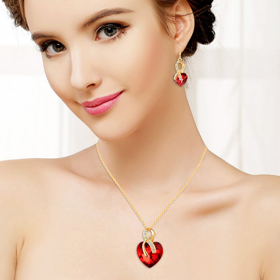 Crystal Jewelry Love Set - Perfect Bridal Wedding Accessories