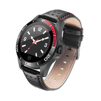 Blacky Leather SmartWatch - Explore Your Activities with New Technology