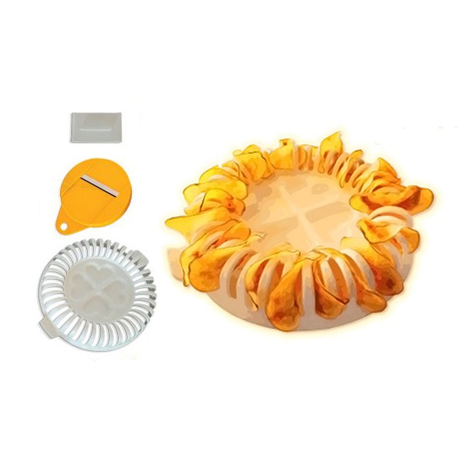 Microwave Oven Fat Potato Chips Maker Set