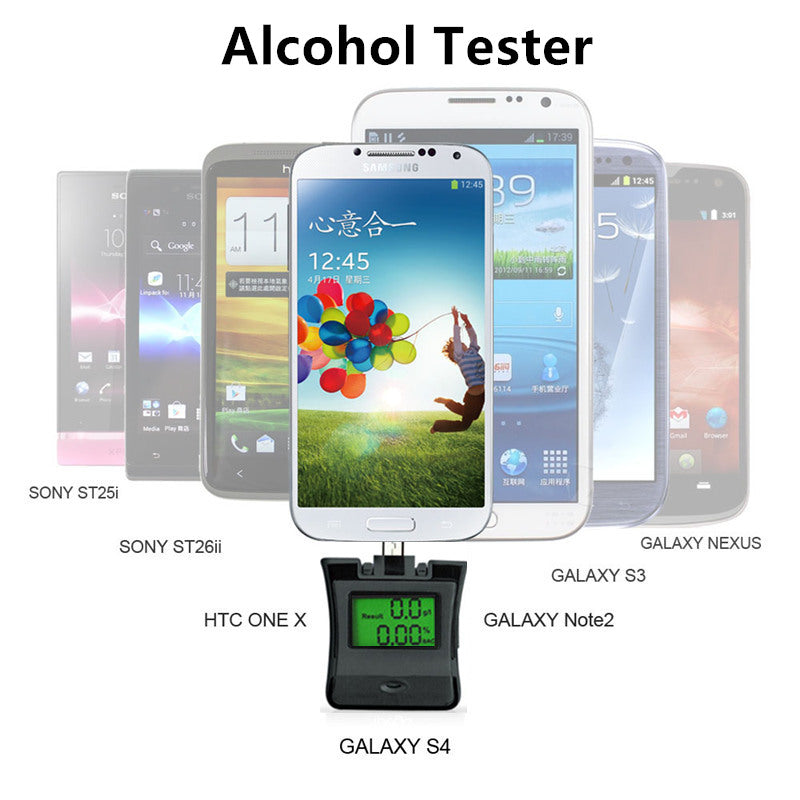 NEW PORTABLE LCD ALCOTESTER FOR SMARTPHONES
