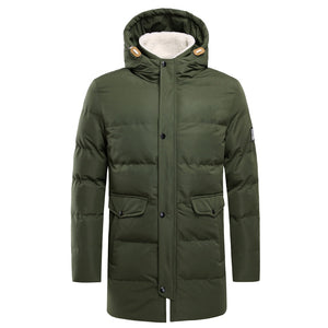 Winter Men's Long Jacket Parkas