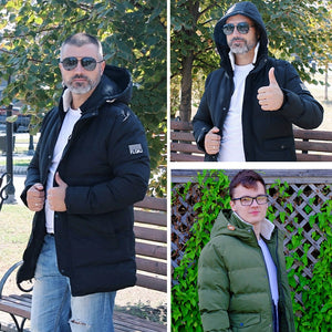 Most Comfortable Winter Men's Long Jacket Parkas