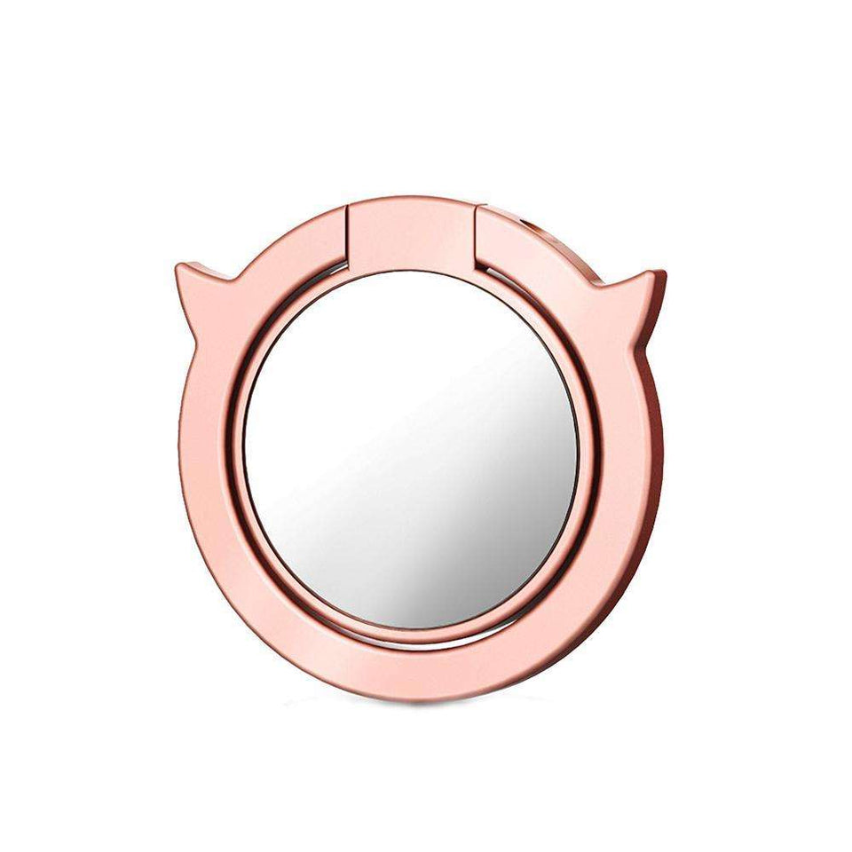 Accessories Smartphone Mobile - Ring Mirror Stand Holder Angel And Demon 360° Rotating Finger Grip Ring For Mobile Phone