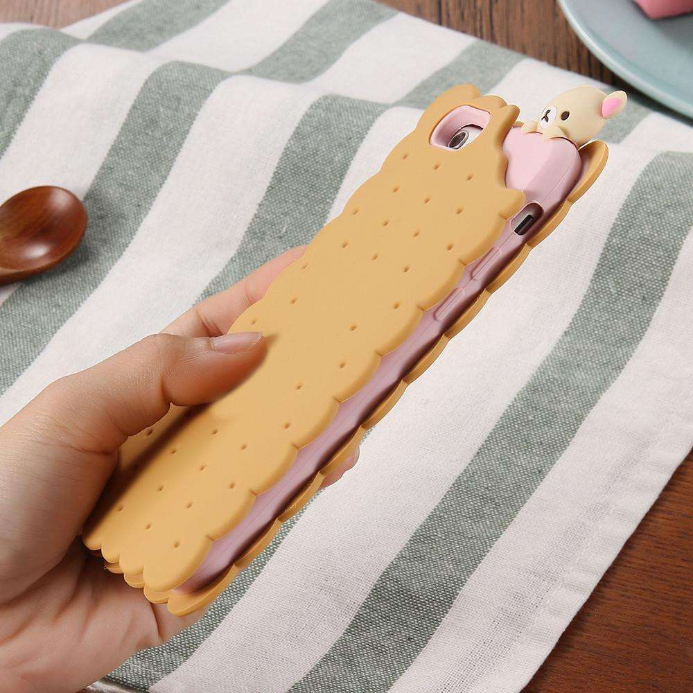 low priced 17569 7dc94 Case Cute 3D Cartoon Biscuit For Apple iPhone 6 6S | Plus 5 5S ...