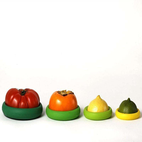 Cups & Saucers - 4pcs Silicone Food Huggers Four Sizes Silicone Caps