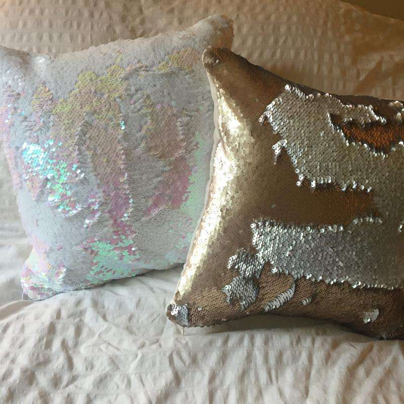 Cushion Cover - Mermaid Pillow Color-Changing Swipe Hand Fun Pillows