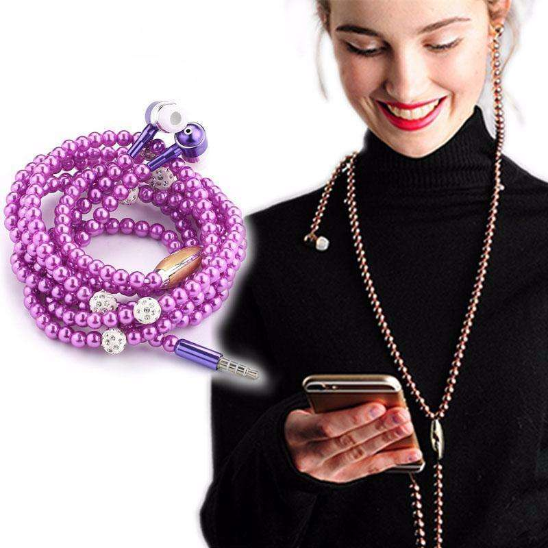 Earphones & Headphones - Pearl Necklace Earphone - Find Your Beautiful Style Wherever You Want!