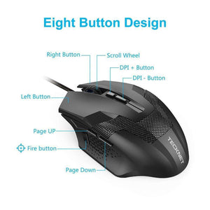 Gaming Mouse - TeckNet RAPTOR Pro Programmable Gaming Mouse
