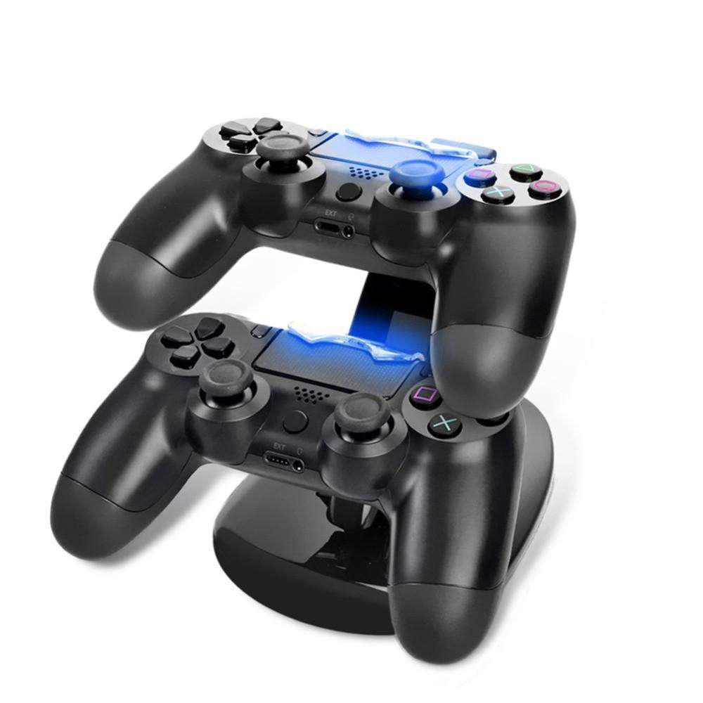 Home - LED Dual USB Charger Charging Sony Playstation 4