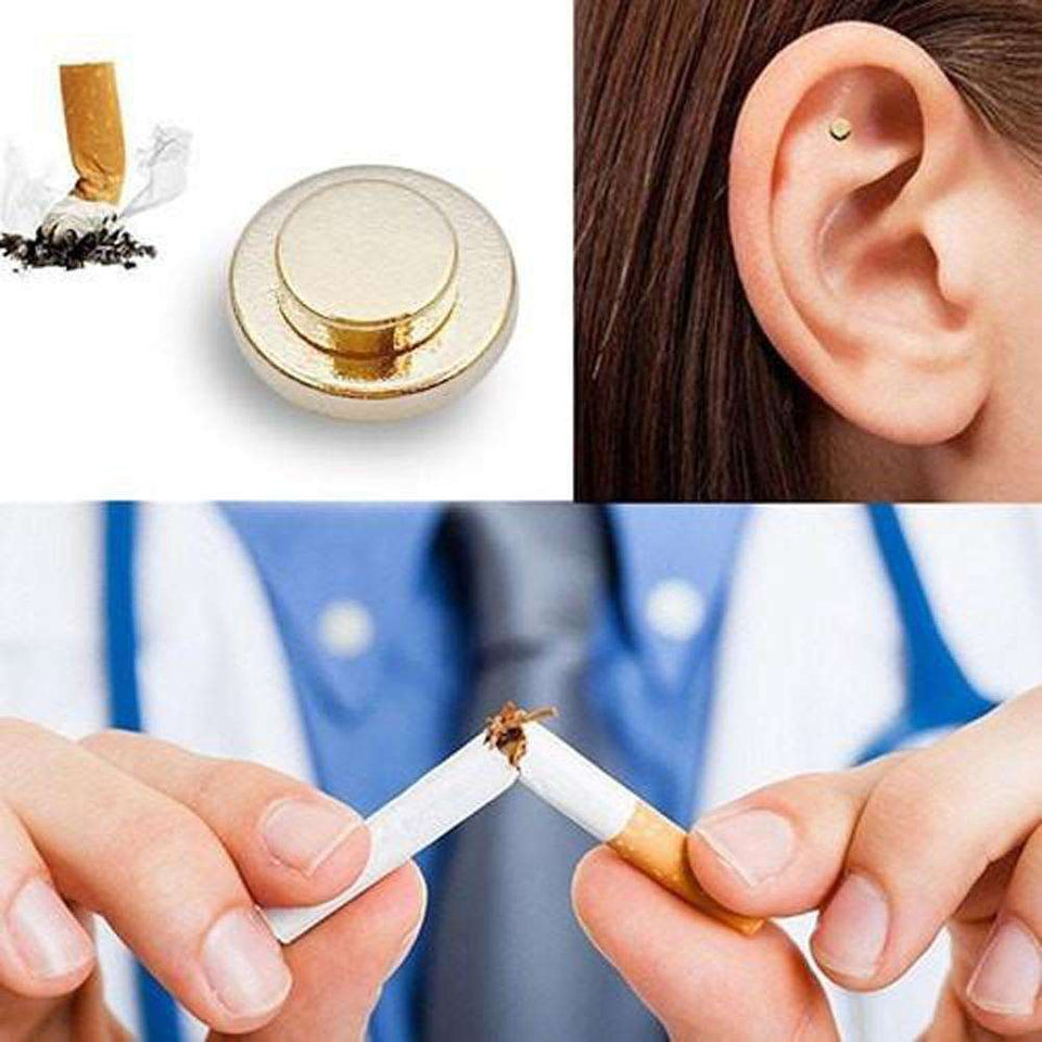 Massage & Relaxation - 2 Pair ZeroSmoke Magnets - Therapeutic Magnets Against Smoking!