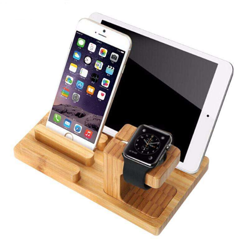Bamboo Charging Holder Dock A Great Place To Keep Your
