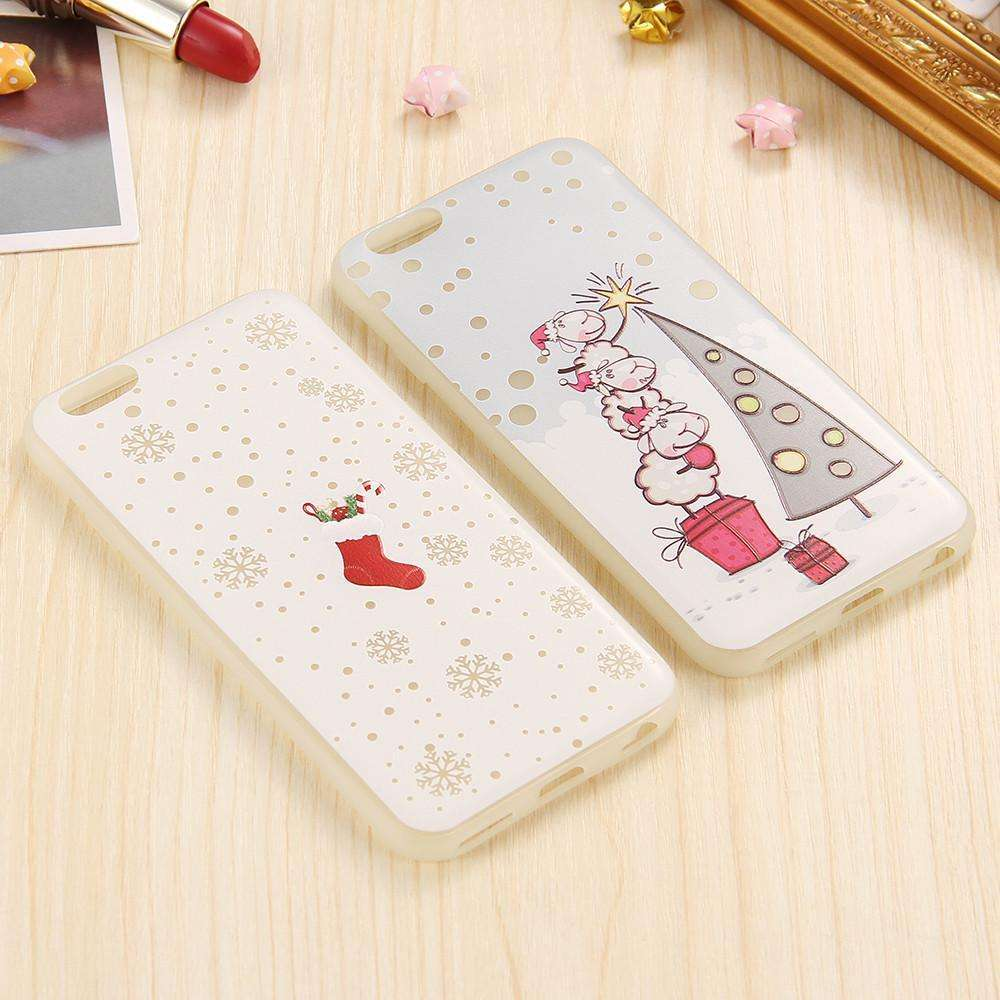 Christmas Luminous Case - Cute Christmas Phone Case For Family And ...