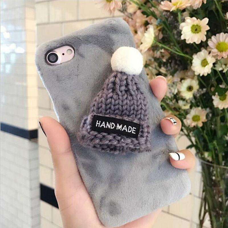 Phone Bags & Cases - Case Warm Winter Lovely Wool 3D Hat Cute For IPhone 7 6S 6 Plus