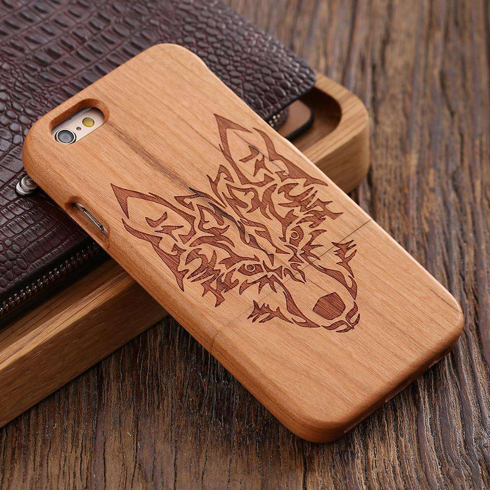 Phone Bags & Cases - Cover Hard Case Wood Natural Wooden Phone For IPhone 6 | 6S