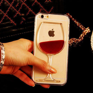 Phone Bags & Cases - Red Wine Transparent Phone Case For IPhone 7 | 7 Plus