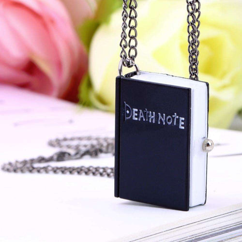 Pocket & Fob Watches - Death Note Book Quartz Pocket Watch Pendant Necklace