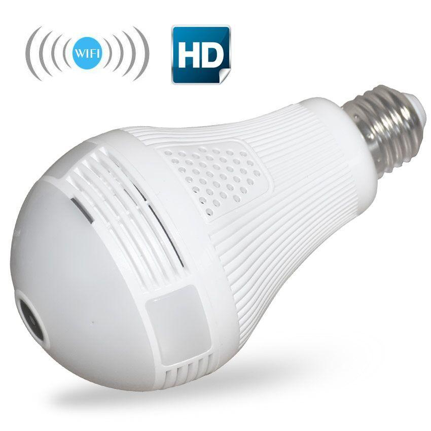 Panoramic Light Bulb Camera - Smart Home Security