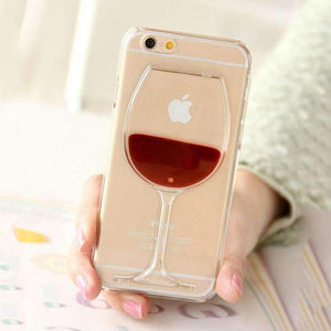 Red Wine Transparent Phone Case For iPhone 7 | 7 Plus