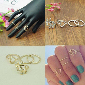 Rings - 4PCS/Set Rings Urban Gold Plated (FREE Shipping)