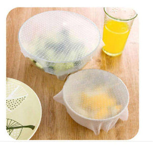 Saran Wrap & Plastic Bags - 4pcs/set  Reusable Multifunctional Wrap (FREE SHIPPING)