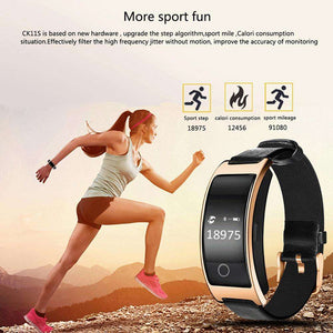 CK11S Blood Pressure & Heart Rate Monitor Wrist Watch