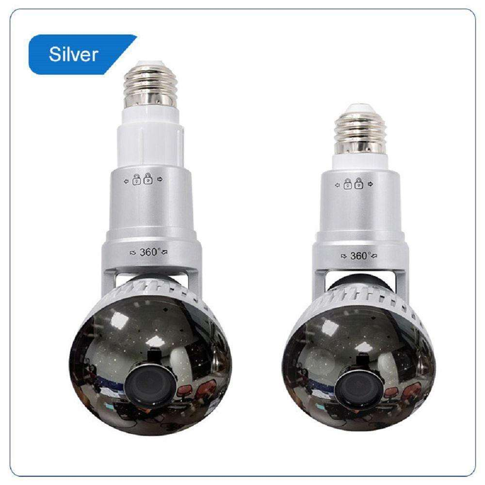 Surveillance Cameras - Wifi Light Bulb Security Camera With LED Lighting Surveillance Camera