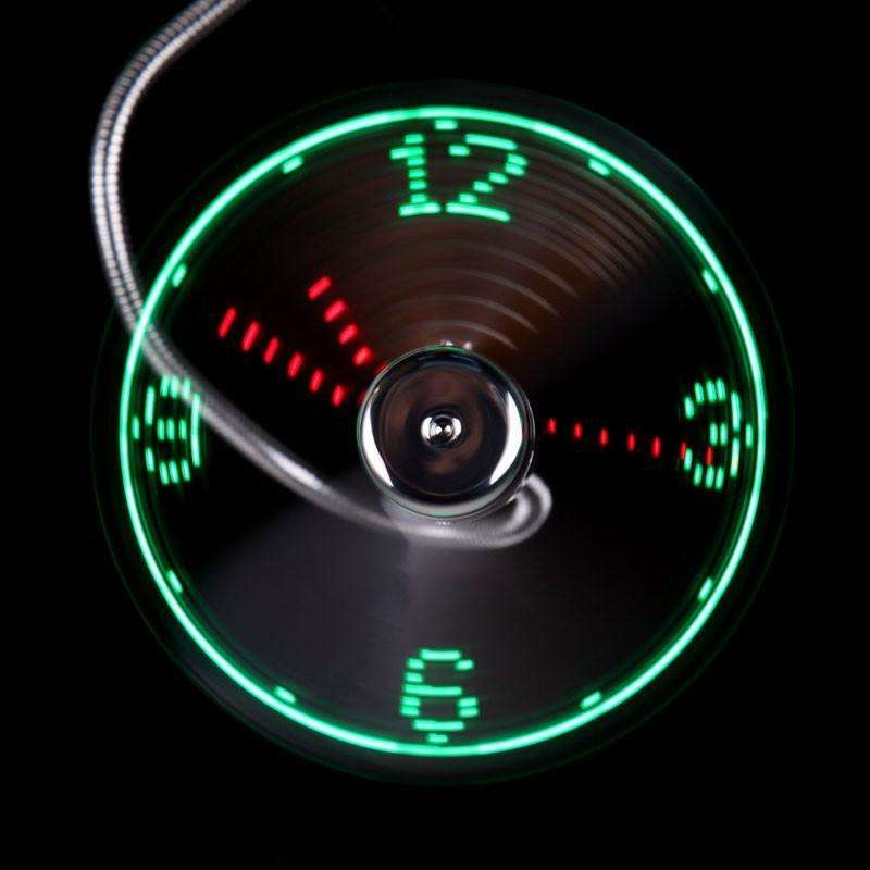 USB Gadgets - Mini LED Light USB Fan Clock High Quality (FREE SHIPPING)
