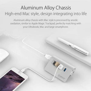 USB - ORICO M3H4 Mac Design Mini High Quality And Speed  Aluminum 4 Port USB 3.0 HUB