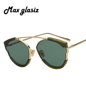 2018 Max  Retro Vintage Sunglasses Women Brand Designer Points Sun Glasses Oculos De Sol Feminino Woman Casual Sunglass UV400