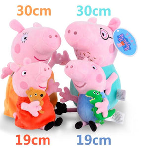 Original Peppa George Pig Family Party Stuffed Dolls - Christmas New Year Gift