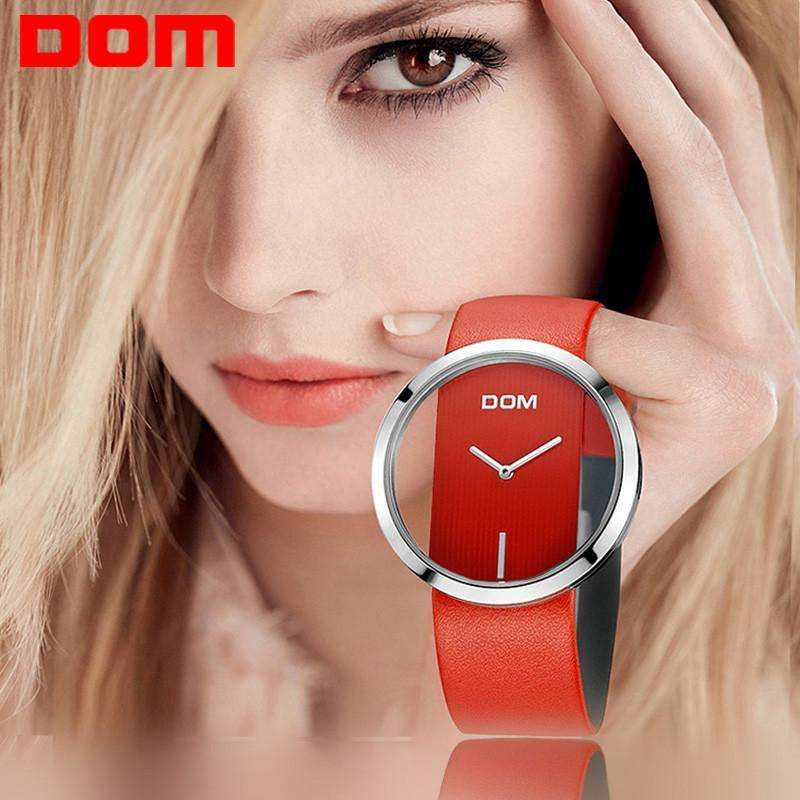 Women Watch - Luxury Fashion Casual Quartz Stylish DOM Women Watch