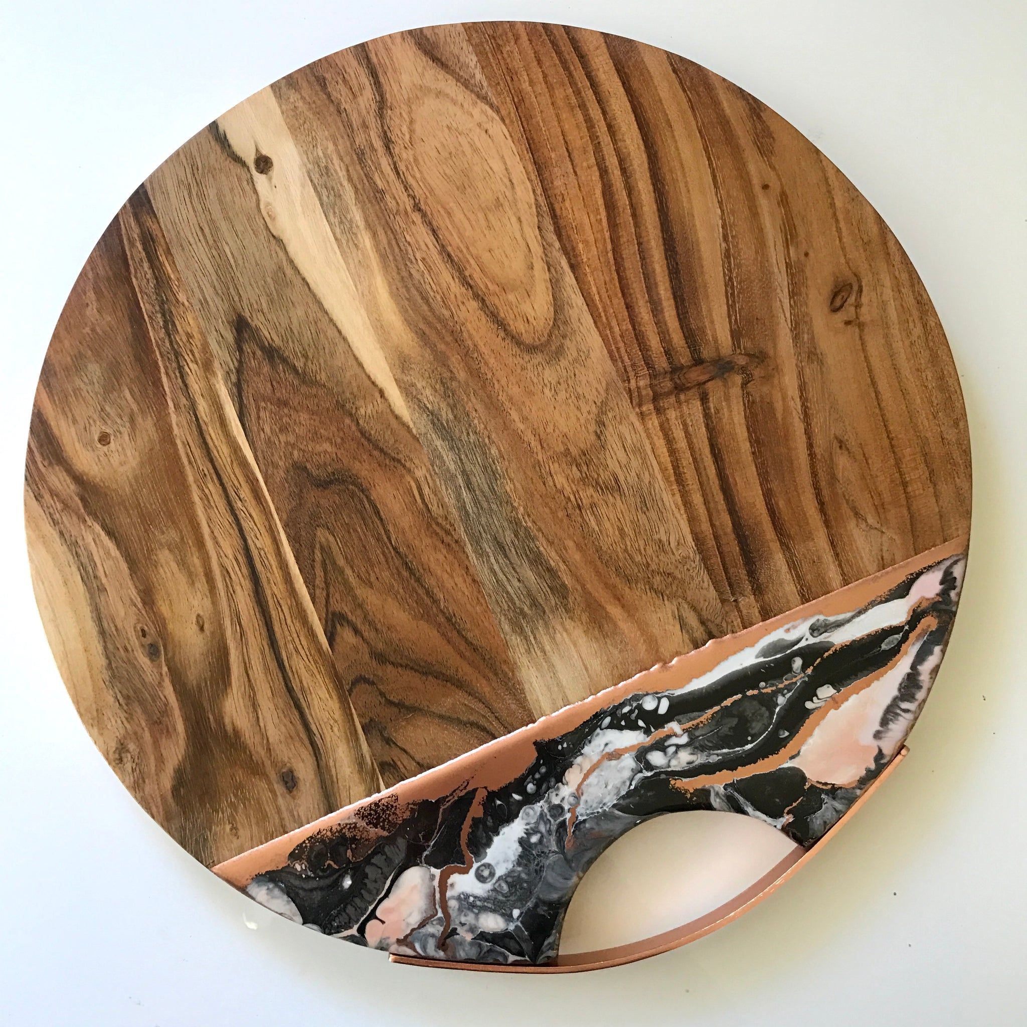 Resin Cheeseboards w/ copper handle custom order