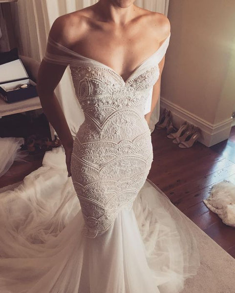 Sexy Off the Shoulder Wedding Dresses