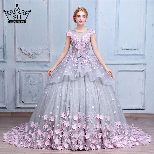 pink flower wedding dress luxury gown flower wedding dress luxury prom 6581
