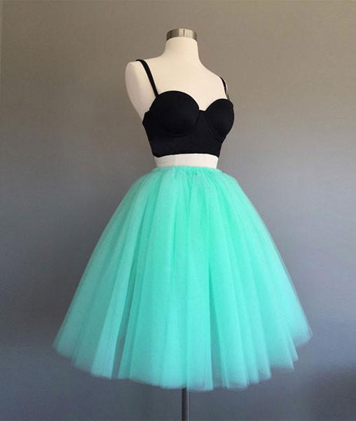CUTE TWO PIECES MINT GREEN SHORT PROM DRESS, HOMECOMING DRESS - FlosLuna