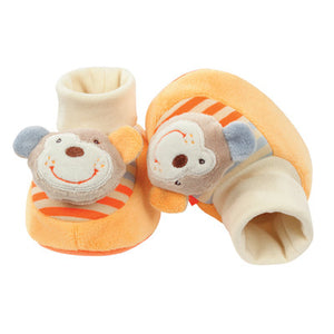 BabyFehn German Soft Toys - Rattle Booties (2 designs)