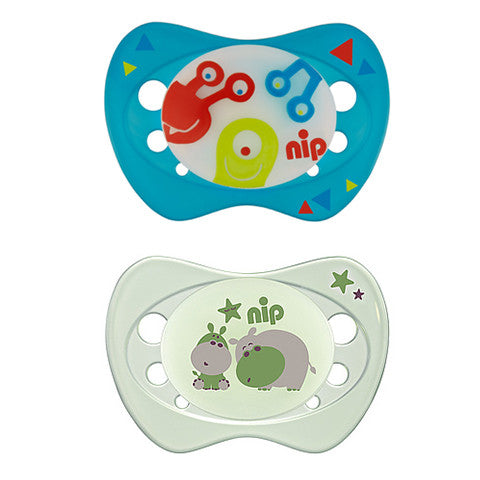 NIP Soother Night, Size 2 (6 designs)