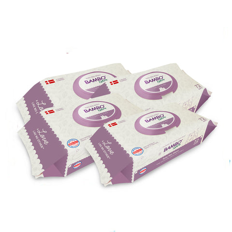 Premium Bambo Nature Baby Wipes (Suitable for hands and face) 72 pcs / pack