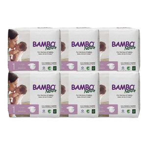 Bambo Nature Baby Diaper [Size 1 / 2-5kg] 28/pack, 6-packs