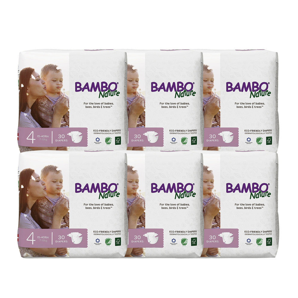 [PRE-ORDER] Bambo Nature Baby Diaper [Size 4 / 7-18kg] 30/pack, 6-packs EST. SHIPPING DATE 31/03/2019