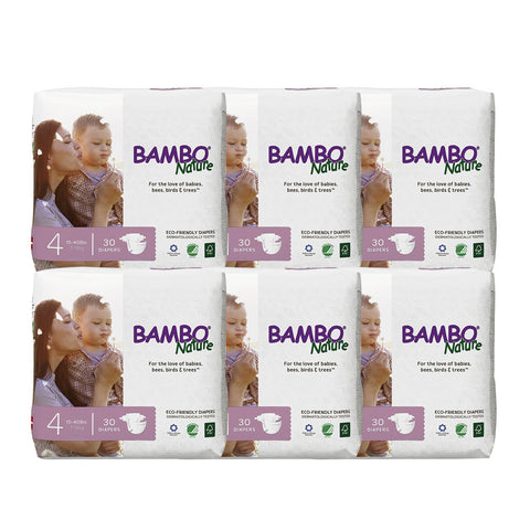 [Ready Stock ] Bambo Nature Baby Diaper [Size 4 / 7-18kg] 30/pack, 6-packs