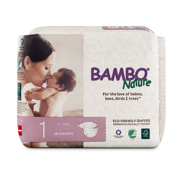 Bambo Nature Baby Diaper [Size 1 / 2-5kg] 28/pack