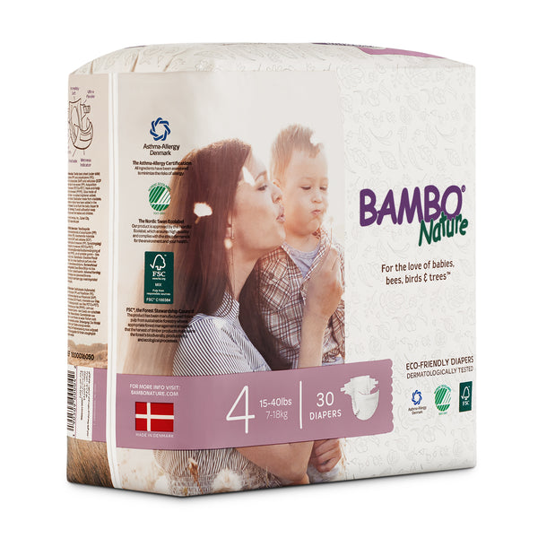 Bambo Nature Baby Diaper [Size 4 / 7-18kg] 30/pack, 6-packs